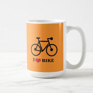 Jag älskar för bakgrundsklassikern för cykeln den kaffemugg