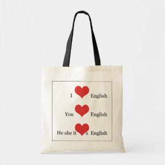 Jag älskar för ESL-lärare för engelsk grammatik TE Kasse