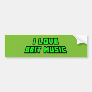 Jag älskar för gröntkontrollanten för musik 8bit bildekal