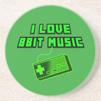 Jag älskar för gröntkontrollanten för musik 8bit underlägg sandsten