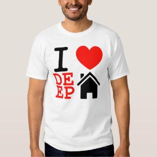 Jag älskar för husmusik för hjärta den djupa t shirts