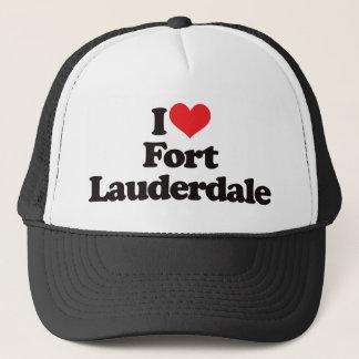 Jag älskar Fort Lauderdale Truckerkeps