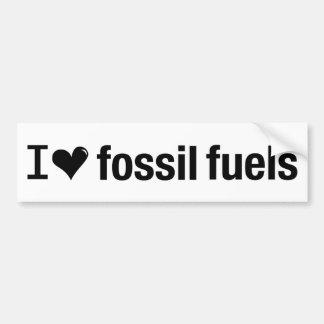 Jag älskar fossil tankar bildekalet bildekal