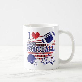 Jag älskar fotboll (amerikanfotboll) kaffemugg