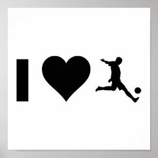 Jag älskar fotboll poster