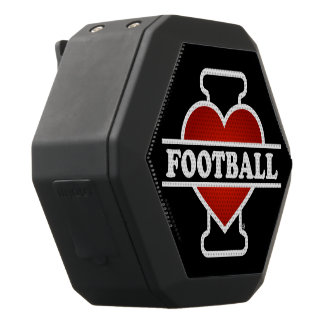 Jag älskar fotboll svart bluetooth högtalare