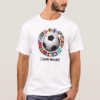 Jag älskar fotboll t shirt