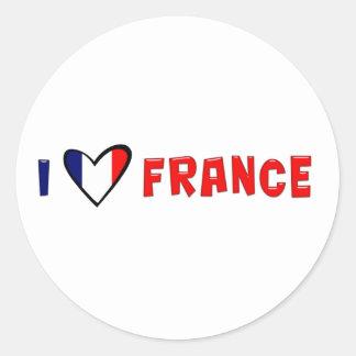 Jag älskar frankriken runt klistermärke