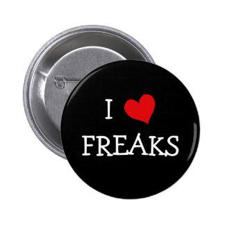 Jag älskar freaker knappar med nål