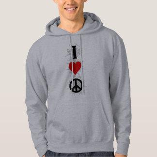 Jag älskar fred tröja med luva