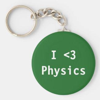 Jag älskar fysik rund nyckelring