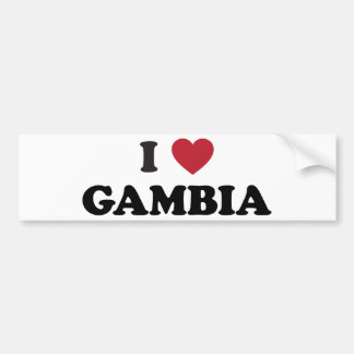 Jag älskar Gambia Bildekal