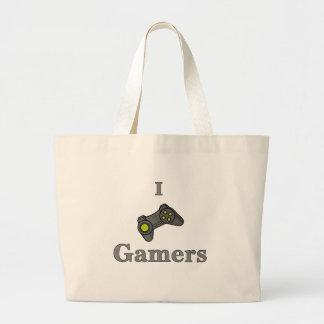 Jag älskar Gamers Jumbo Tygkasse