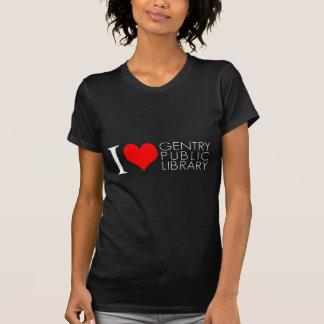 Jag älskar Gentryoffentligt bibliotek T-shirt