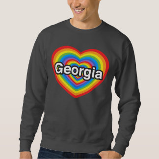 Jag älskar Georgia. Jag älskar dig Georgia. Hjärta Sweatshirt