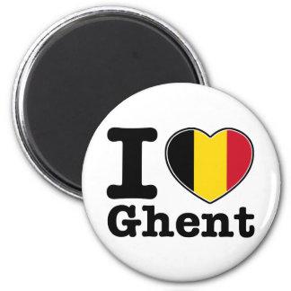 Jag älskar Ghent Magnet
