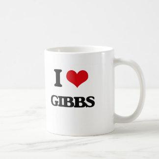 Jag älskar Gibbs Vit Mugg