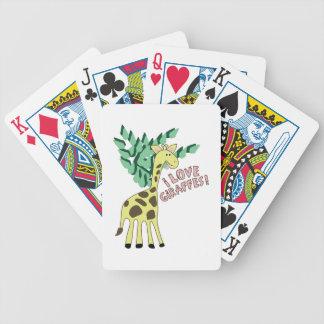 Jag älskar giraff! spelkort