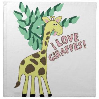 Jag älskar giraff! tygservett