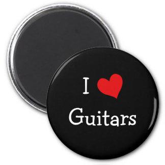 Jag älskar gitarrer magnet rund 5.7 cm