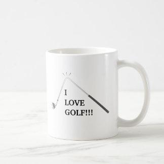 Jag älskar golf! kaffemugg