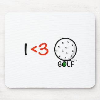 Jag älskar golf musmatta
