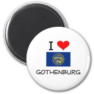 Jag älskar Gothenburg Nebraska Magnet Rund 5.7 Cm