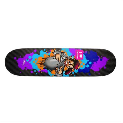 Jag älskar grafittiB-Pojken Skateboard Bräda 19,5 Cm