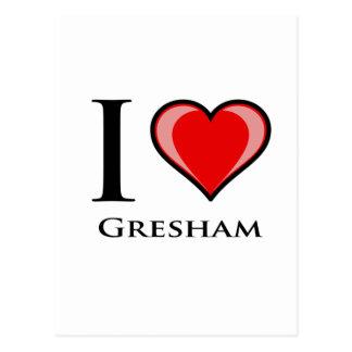 Jag älskar Gresham Vykort