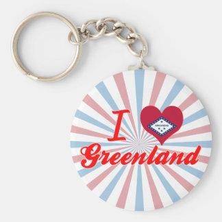 Jag älskar Grönlandet, Arkansas Rund Nyckelring