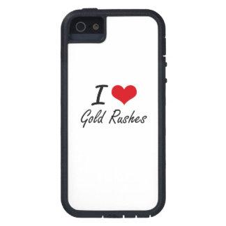 Jag älskar guldruscher iPhone 5 Case-Mate skal