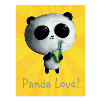 Jag älskar gulliga Pandas Vykort