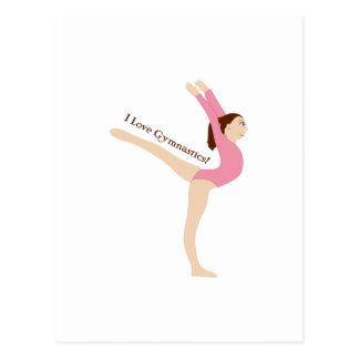 Jag älskar gymnastik! vykort