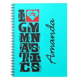 Jag älskar gymnastikjägarepersonlig anteckningsbok