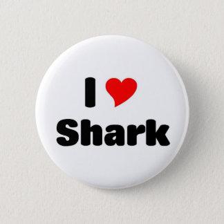 Jag älskar hajen standard knapp rund 5.7 cm