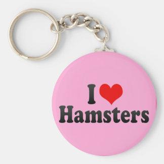 Jag älskar Hamsters Rund Nyckelring