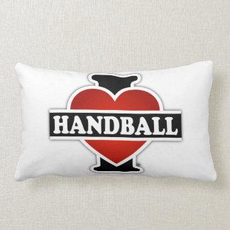 Jag älskar handboll prydnadskuddar