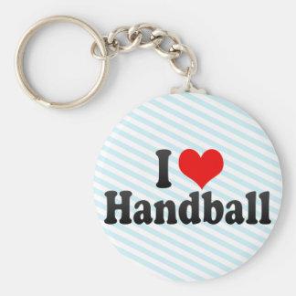 Jag älskar handboll rund nyckelring
