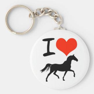 Jag älskar hästar rund nyckelring