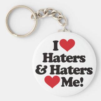 Jag älskar Haters, och Haters älskar mig Rund Nyckelring