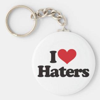 Jag älskar Haters! Rund Nyckelring