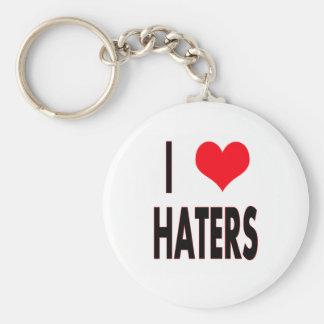 Jag älskar Haters Rund Nyckelring