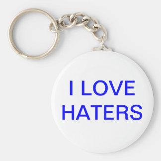 Jag älskar Hatersnyckelringblått Rund Nyckelring