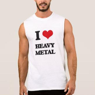Jag älskar heavy metal sleeveless tröjor