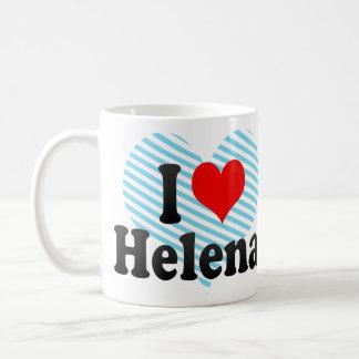 Jag älskar Helena Vit Mugg