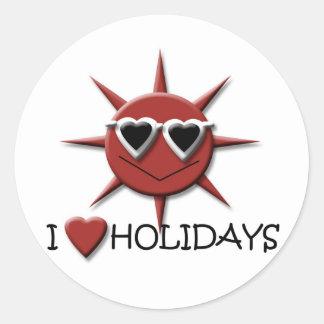 Jag älskar helgdagar runt klistermärke