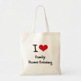 Jag älskar hem- afton för familj tote bag