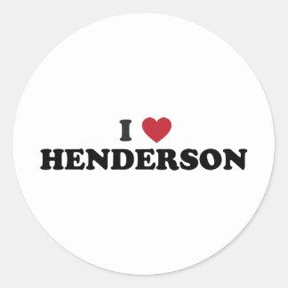 Jag älskar Henderson Nevada Runt Klistermärke