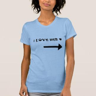 Jag älskar henne - koppla ihop skjortan tröjor