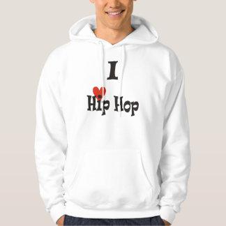 Jag älskar hip hop sweatshirt med luva